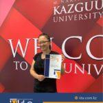 Вручение сертификата по курсу по военно-техническому переводу